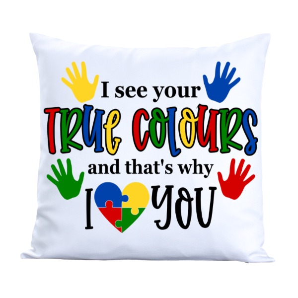 Autism Awareness Toss Pillow Cover - Pillow Cover Polyester Canvas Square 40cm