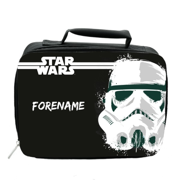 Star Wars Storm Trooper Paint Insulated Lunch Bag - Black