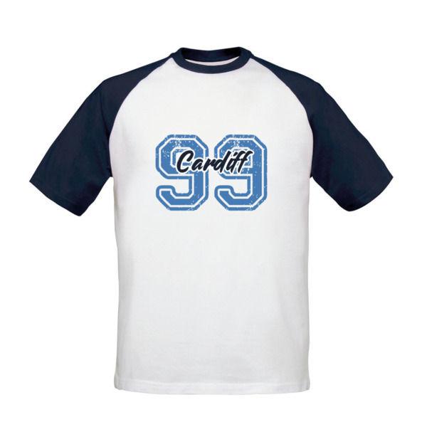 Cardiff City FC Varsity Number Baseball T-Shirt