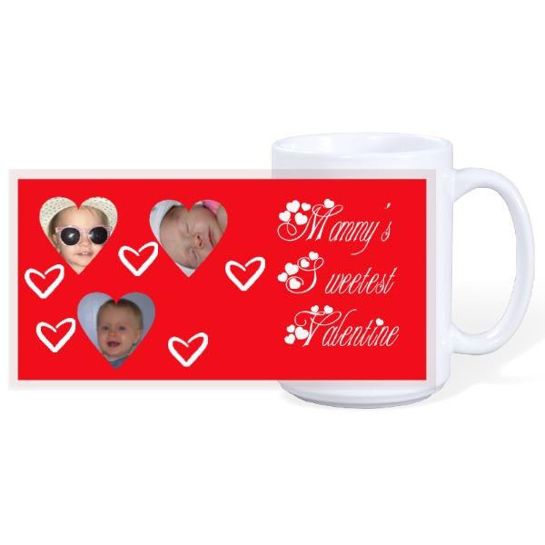 Triple Heart Mug - 15oz Ceramic Mug