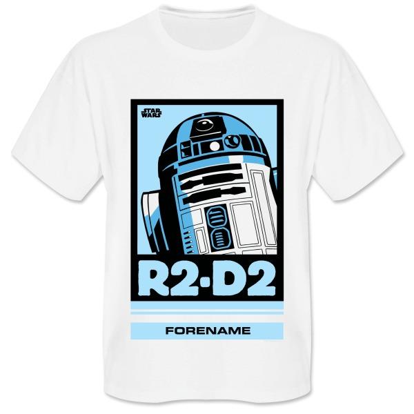 Star Wars R2 D2 Pop Art Mens T-shirt