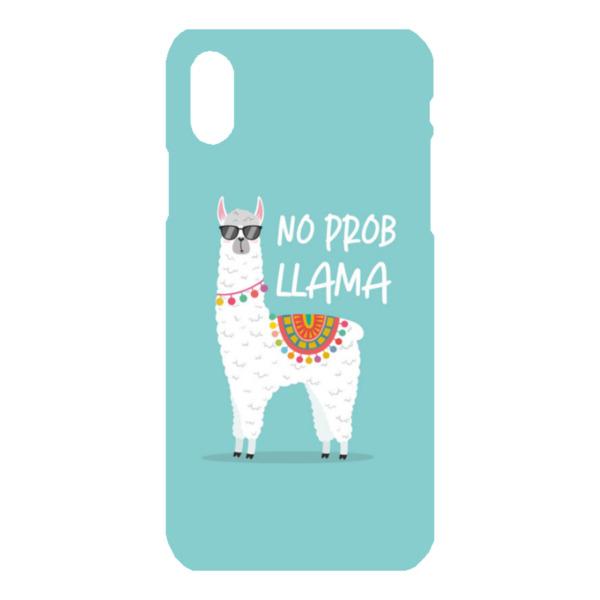 No Prob Llama iPhone X Hard Back Phone Case