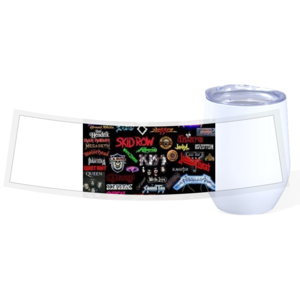 Travel Wine Cup Stainless Steel White 12oz