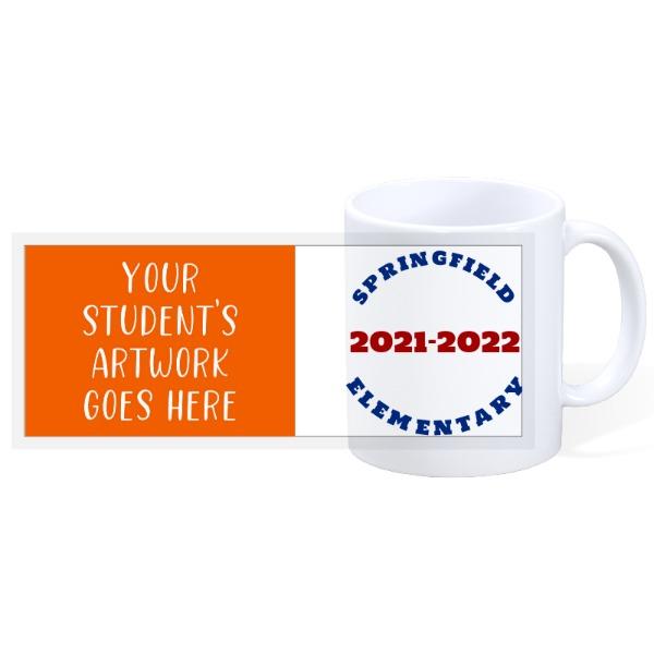 School Student Artwork Mug - 11oz Ceramic Mug