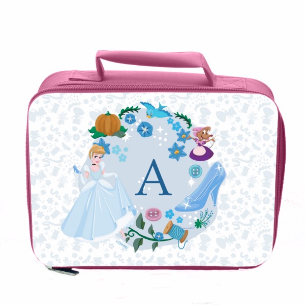 Disney Princess Cinderella Initial Pink Lunch Bag