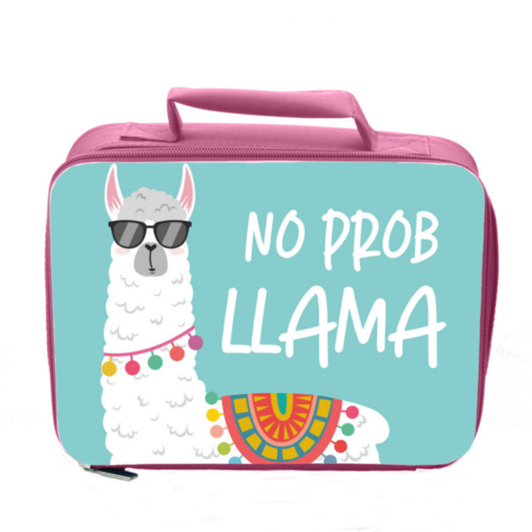 No Prob Llama Insulated Lunch Bag - Pink