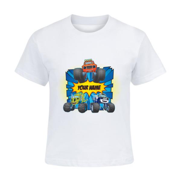 Blaze and the Monster Machines Kids T-shirt - Blaze, Zeg and Darington