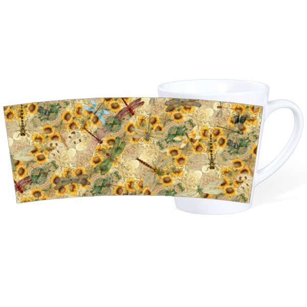 Dragon Flies 1 - Mug Ceramic Latte White 12oz