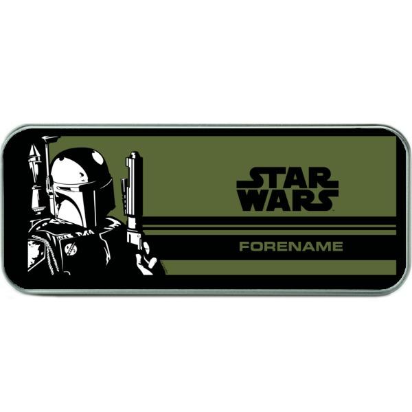 Star Wars Boba Pop Art Silver Pencil Tin
