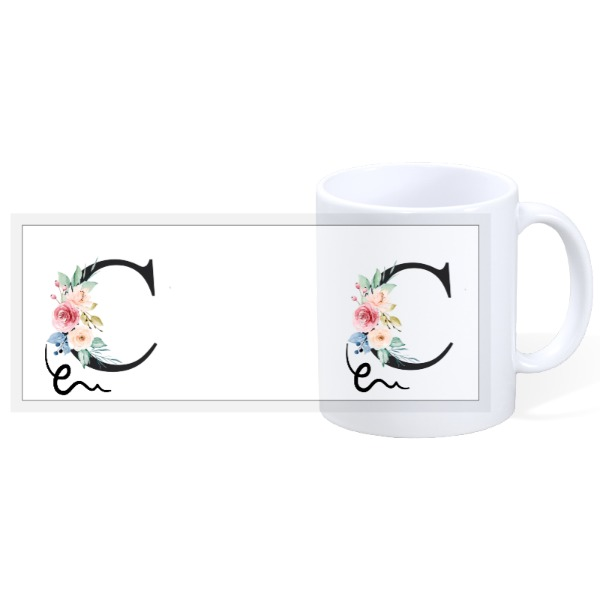 Letter C - 11 oz Mug - 11oz Ceramic Mug