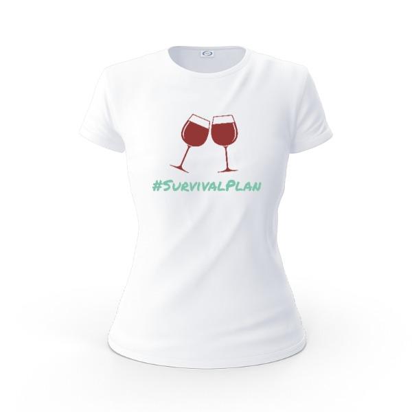 #SurvivalPlan Wine - Ladies Solar Short Sleeve Large Print Area