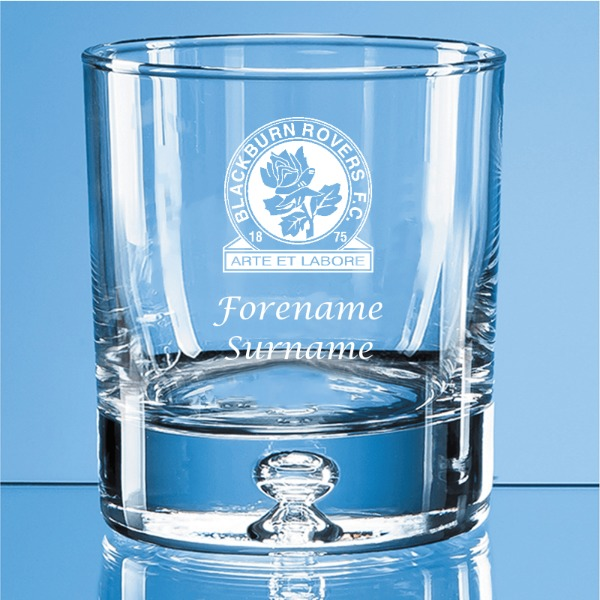 Blackburn Rovers FC Crest Bubble Base Whisky Tumbler