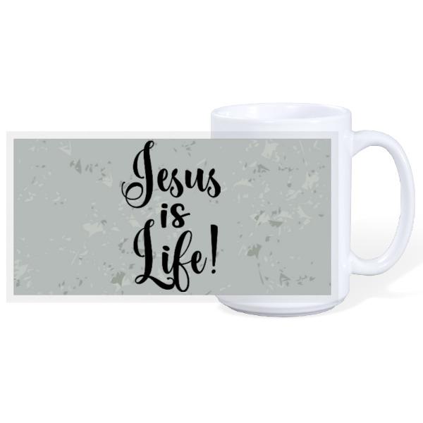 JESUS IS LIFE - 15oz Ceramic Mug