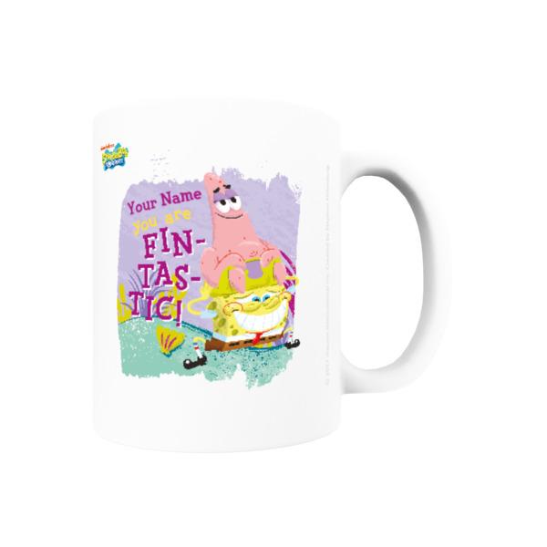 Personalised SpongeBob & Patrick Mug - Fin-tastic