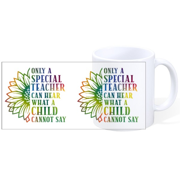 Only A Special Teacher Style 1 - Mug Ceramic White 11oz