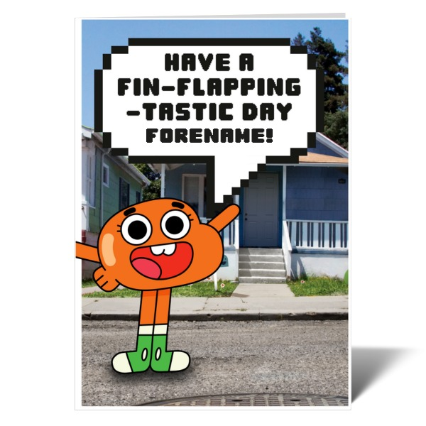 Gumball Darwin Birthday Card