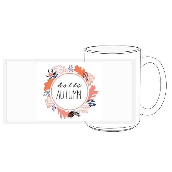 Autumn Wreath Mug - 15oz Ceramic Mug