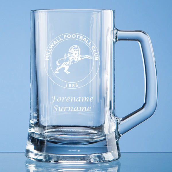 Millwall FC Crest Small Plain Straight Sided Tankard