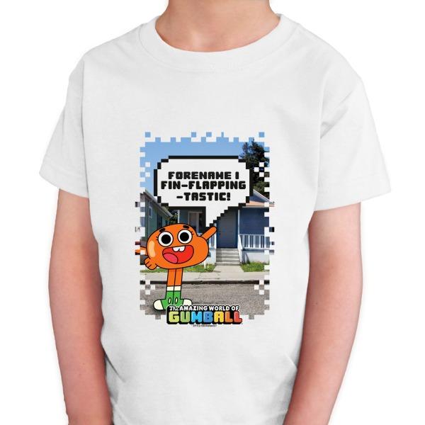 Gumball Darwin Pixel Kids T-shirt