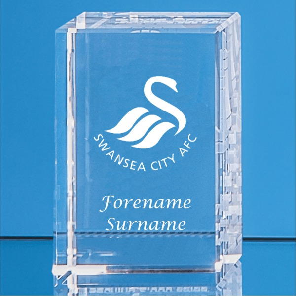 Swansea City AFC Personalised Crystal Rectangle