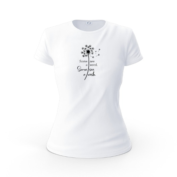 Some see a wee - Ladies Solar Short Sleeve Small Print Area