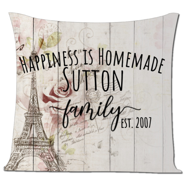 Happiness Pillow - Pillow Cover Polyester Canvas Square 40cm