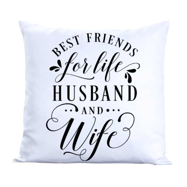 Best friends - Pillow Cover Polyester Canvas Square 40cm