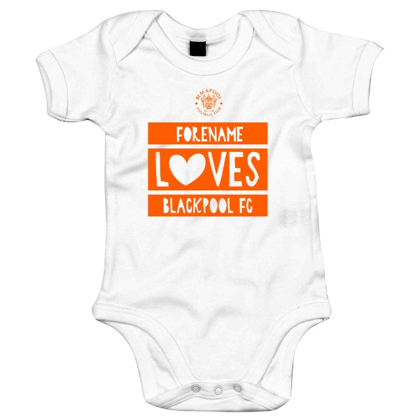 Blackpool FC Loves Baby Bodysuit
