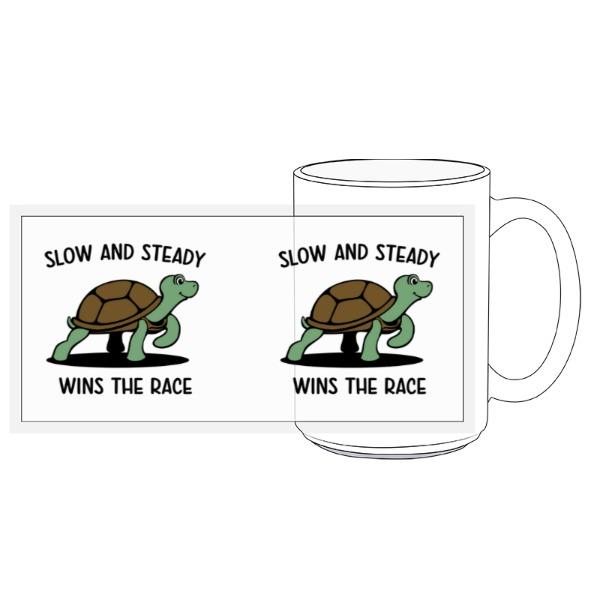 Slow and Steady Turtle Mug - 15oz Ceramic Mug