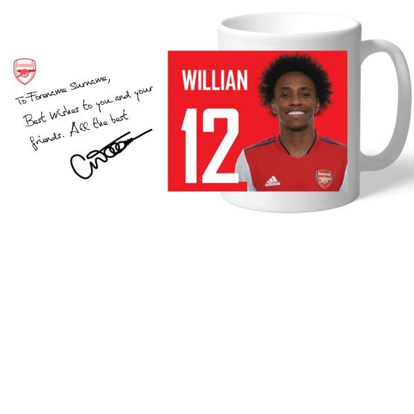 Arsenal FC Willian Autograph Mug