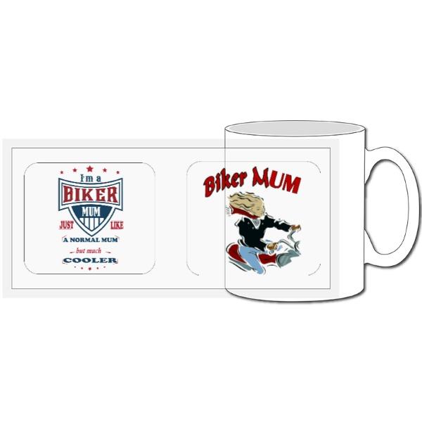 Biker Mum Birthday Mug - 10oz Ceramic Mug