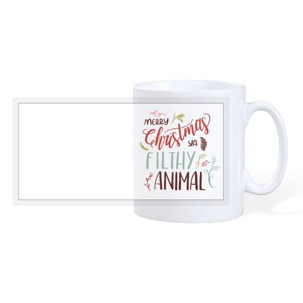 Merry Christmas Ya Filthy Animal - 10oz Ceramic Mug