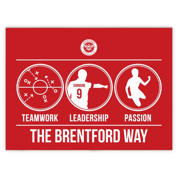 Brentford FC Way Blanket (100cm X 75cm)
