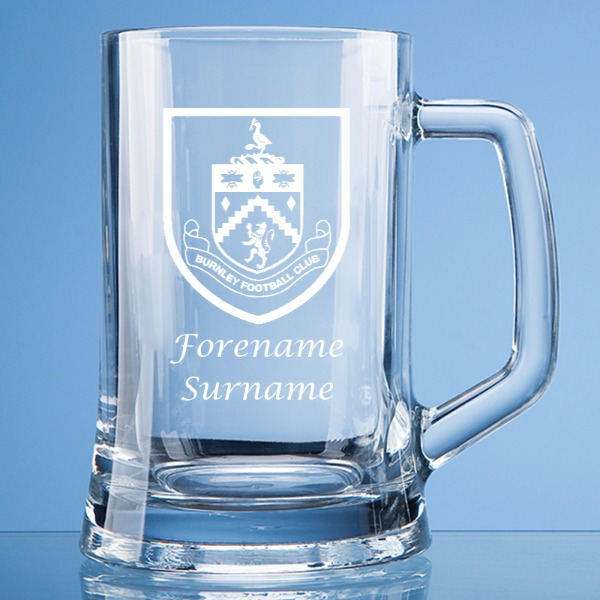 Burnley FC Large Plain Straight Sided Tankard