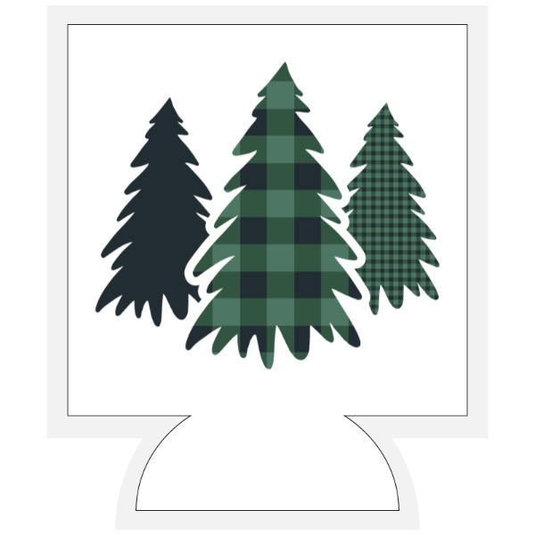 Plaid Pine Trees - Beverage Cooler