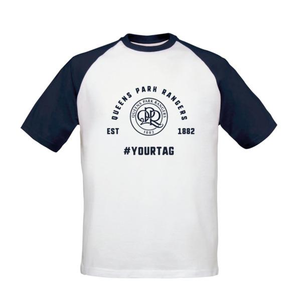 e0b1369e455 Queens Park Rangers FC Vintage Hashtag Baseball T-Shirt
