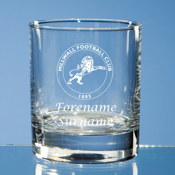 Millwall FC Crest Bar Line Old Fashioned Whisky Tumbler
