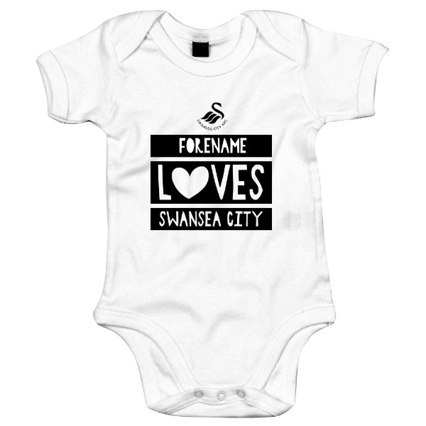 Swansea City AFC Loves Baby Bodysuit