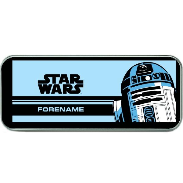 Star Wars R2 D2 Pop Art Silver Pencil Tin