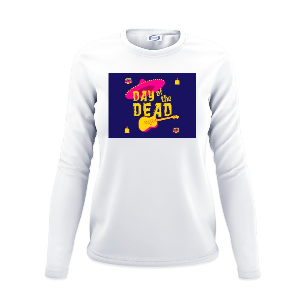 day o d - Ladies Solar Long Sleeve Small Print Area