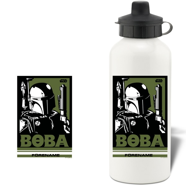 Star Wars Boba Pop Art Aluminium Water Bottle