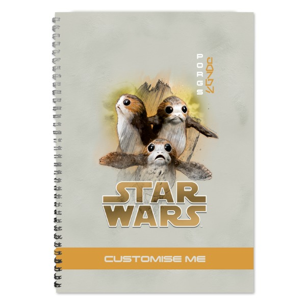 Star Wars Porg Last Jedi Spray Paint A4 Notebook