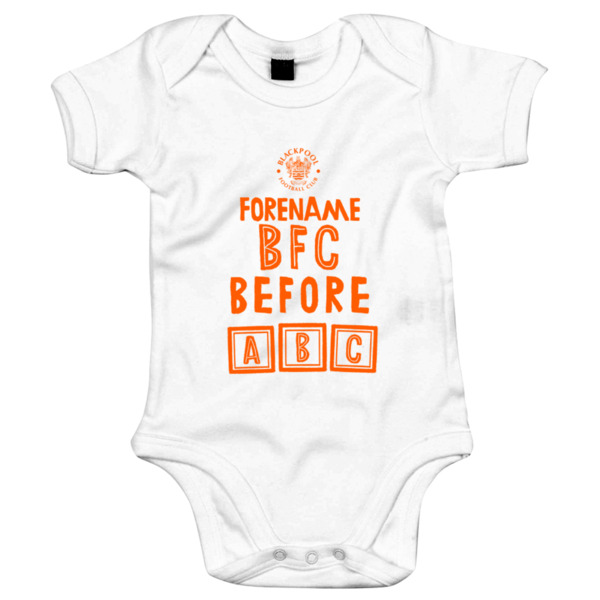 Blackpool FC Before ABC Baby Bodysuit