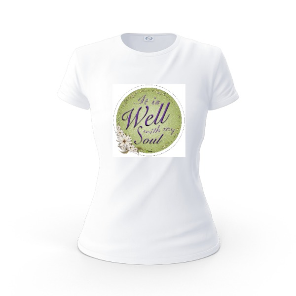 It is well with my soul - circle - Ladies Solar Short Sleeve