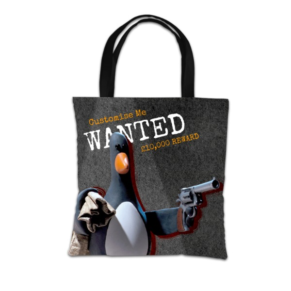 "Aardman Wallace And Gromit Feathers ""Wanted"" Tote Bag"