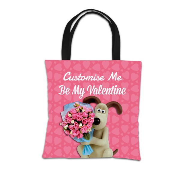 "Aardman Wallace And Gromit ""Be My Valentine"" Tote Bag"