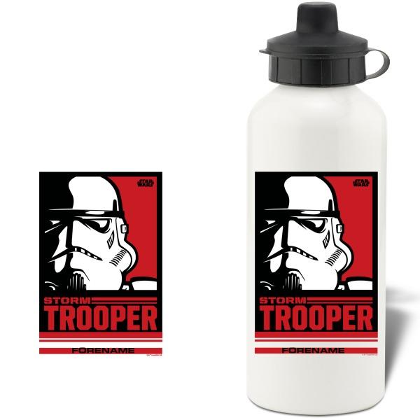 Star Wars Storm Trooper Pop Art Aluminium Water Bottle
