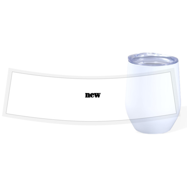 test - Travel Wine Cup Stainless Steel White 12oz
