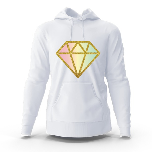 diamond geo - Hoody Sweatshirt Large Print Area
