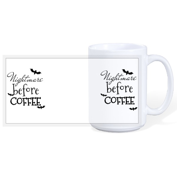 Nightmare Before Coffee - Halloween 15oz Ceramic Mug